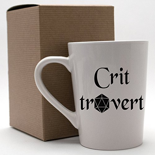 [Critrovert DnD Roleplaying d20 Mug for Introverts Extroverts and Ambiverts (14oz)] (Best Internet Meme Costumes)