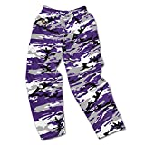zubaz pants purple - NFL Baltimore Ravens Men's Zubaz Camo Print Team Logo Casual Active Pants, X-Large, Purple/Gray/Black