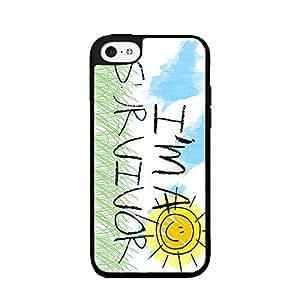 I'm a Survivor 2-Piece Dual Layer Phone Case Back Cover iPhone 5 5s
