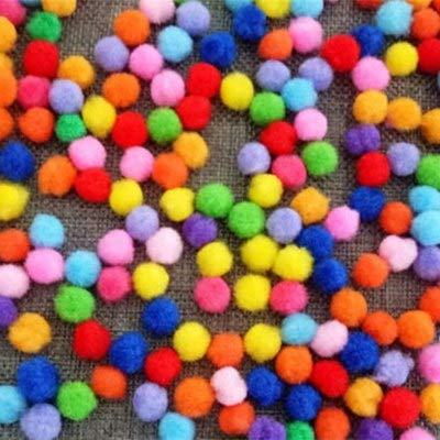 Craft Supplies - 100pcs Set Plush Multicolour Diy Decoration Pompon Ball Fur Wedding Christmas Party Favor Crafts 15 - Deals Online 4-8 Box Dollars Sticks Diy Fits Tape Mesh ()