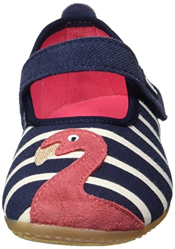 570 Bleu Flamingo Kitzbühel Chaussons Streifen amp; Ballerina Marine Fille Living UCp0zWU