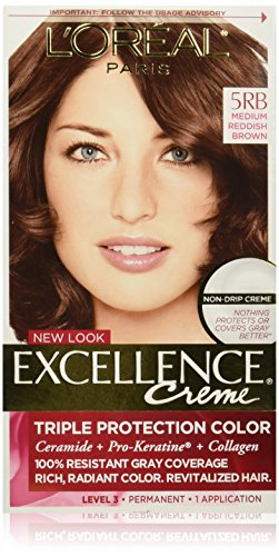 L'Oreal Paris Excellence Creme, 5RB Medium Reddish Brown, (Packaging May Vary)