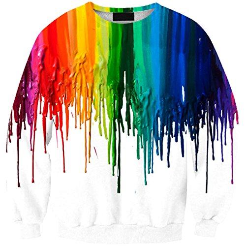 YICHUN mujeres niñas camiseta Tops fina Sudaderas Jersey jerséis blusa Print Printing 12#