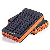 10000mAh Solar Charger Portable Dual USB Shockproof Solar Power Bank/Backup Battery Charger;Solar Powered Phone Charger for iPhone,iPod,iPad,Samsung HTC BlackBerry and