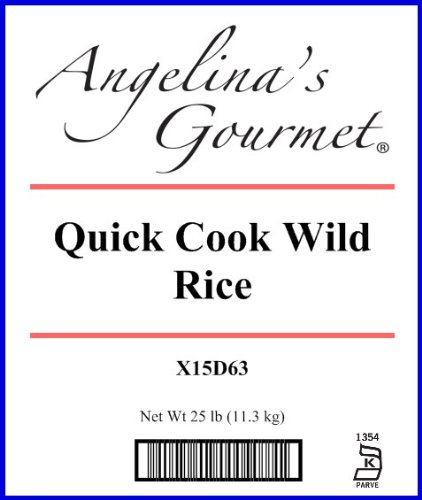 Wild Rice, Quick Cook - 25 Lb Bag Each by Woodland Ingredients