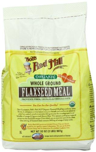 Red Mill de Bob Organic Flaxseed repas, 32 onces paquets (Pack de 4)