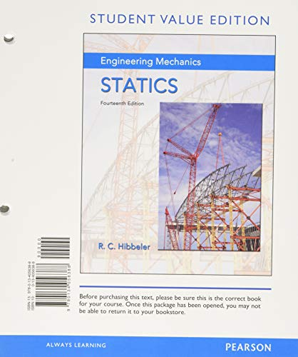 Modified Mastering Engineering Revision with Pearson eText -- Standalone Access Card -- for Engineering Mechanics: Statics (14th Edition)