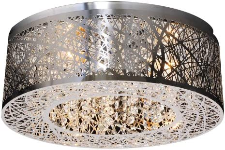 PLC Lighting 77747 PC Nest Collection 3 Light Ceiling Light, Polished Chrome