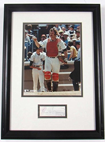 THURMAN MUNSON Signed PSA DNA AC01917 Cut Matted With 8X10 Authentic Autograph