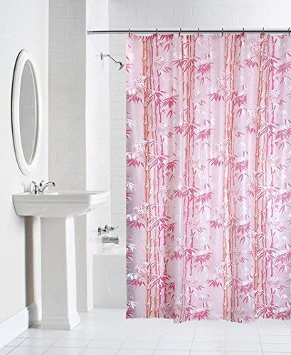 Yellow Weaves PVC Hand Painted Shower Curtain with 8 Hooks(54X84-inches, Multicolour)