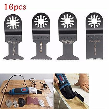 Amazon com : Hitommy 16pcs Oscillating Multitool Saw Blades