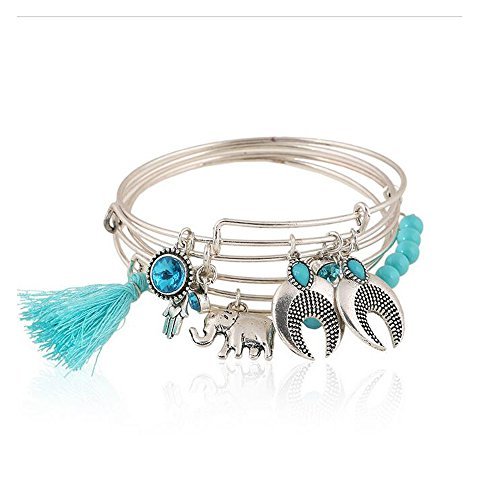 Yuriao Jewelry Fashion Retro Style Tassels Elephant - Step Ohio Outlet 2