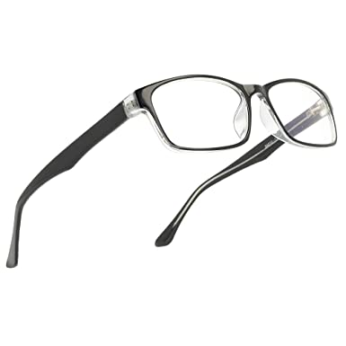 647e7d8ab3 Amazon.com  Blue Light Blocking Computer Gaming Glasses Anti Glare UV  Protection Rectangle Eyeglasses By Magic Jing For Men And Women(black