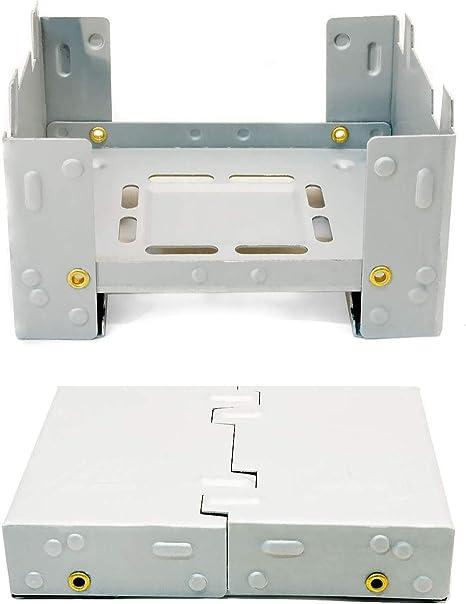 Hornillo compacto de Outdoor SAXX® para combustible fósil seco, plegable, para calentar latas, ollas y sartenes, para acampadas y festivales, tamaño ...