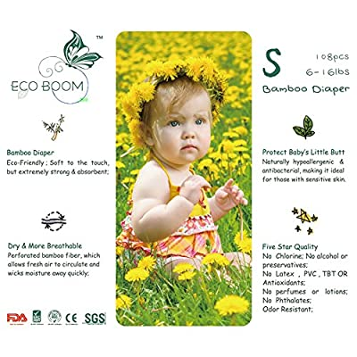 Ecoboom Baby Biodegradable Bamboo Disposable Diapers Baby Nappies