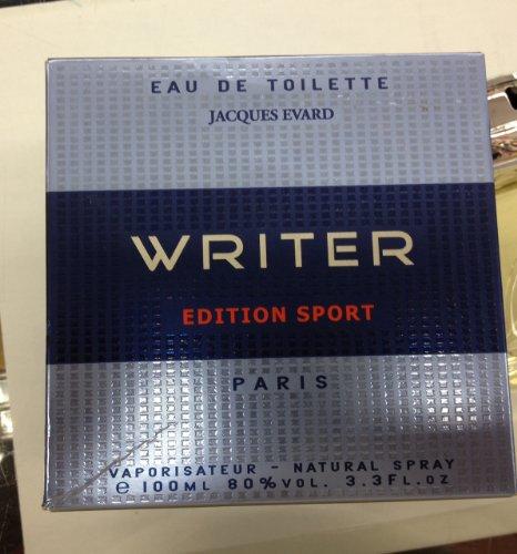 WRITER EDITION SPORT BY JACQUES EVARD COLOGNE FOR MEN 3.3 OZ / 100 ML EAU DE TOILETTE SPRAY