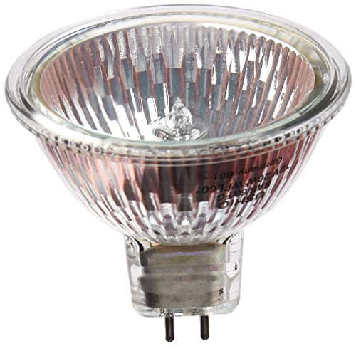12v 20w Clear Halogen Flood - Ushio BC1286 1000004 - 20W Halogen Light Bulb - MR16 - Eurostar - BAB Wide Flood - Glass Face - 5,000 Life Hours - 600 Candlepower - 12V