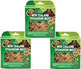 Zoo Med Laboratories New Zealand Sphagnum Moss, 240 Cubic Inch (3 Packages with 80 Cubic Inches Each)