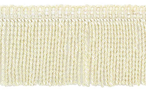 DÉCOPRO 3 Inch Long Off White Thin Bullion Fringe Trim|Style# BFT3|Color: Ivory - A2|Sold by The Yard