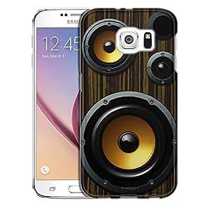 Samsung Galaxy S6 Case, Slim Snap On Cover Retro Loudspeaker Case