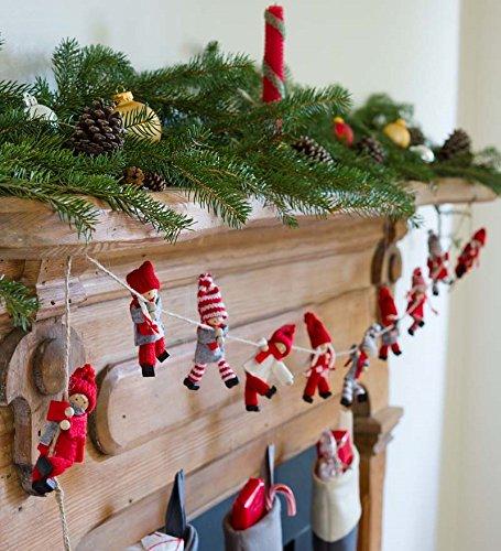 Flexible Santa's Helpers Holiday Garland 4¾ tall 6'L decoration room decor