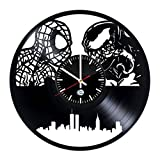 Fun Door Spiderman Marvel Superhero Handmade Decorative Vinyl Record Wall Clock – Best Gift Review