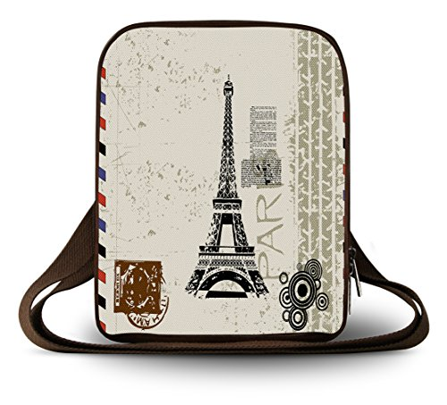 Cruz de pequeño Bolsa diferentes Luxburg Hombro Lujo Tour Eiffel Tour Eiffel lona multiuso diseños Cuerpo amp;apos tII08xS