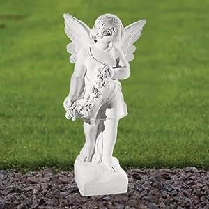 Ornamentos del jardín mármol - Angel figurilla 60 cm Estatua religiosa