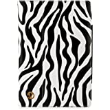 Black White Leather Zebra Soho Durable hard-shell Construction Nylon Stand Alone Smart Case, Lightweight, Protective Slimline Sturdy, Flip Folio Book Style Design For ASUS Transformer TF101, TF101G Eee Pad 10.1-Inch Tablet