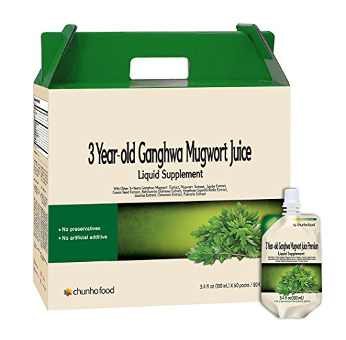 Chunho Food 3 Year Old Ganghwa Mugwort Juice Premium Liquid Supplement. Prevent Symptoms for Colic, Diarrhea, Constipation, Cramps, Weak Digestion. No Preservatives and Artificial Additives. … by Chunho Food