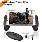 iPhone controller [NEW UPGRADED] Sensitive Shoot, Aim Fire Trigger Buttons L1R1 for PUBG/Fortnite/Knives Out/Rules of Survival, Mobile Game Controller, Phone Joystick for iPhone Android (1 Pair)