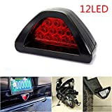 CHAMPLED F1 style 12 LED Rear Tail Brake Stop Light Third Red Strobe safety Fog DRL Lamp For FORD CHRYSLER CHEVY CHEVROLET DODGE CADILLAC JEEP GMC PONTIAC HUMMER LINCOLN BUICK