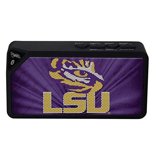 AudioSpice NCAA LSU Tigers BX-100 Bluetooth Speaker, Black