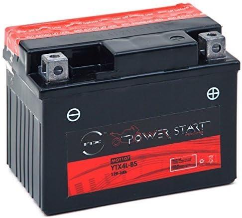 Batterie Moto NTX4L-BS YTX4L-BS 12V 3Ah NX