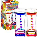 YUE MOTION Liquid Bubbler Visual Sensory Timer, 2 Minute - New Big XL Calming Sensory Drip Drop Color Water Bubble Toy (Single Pack)