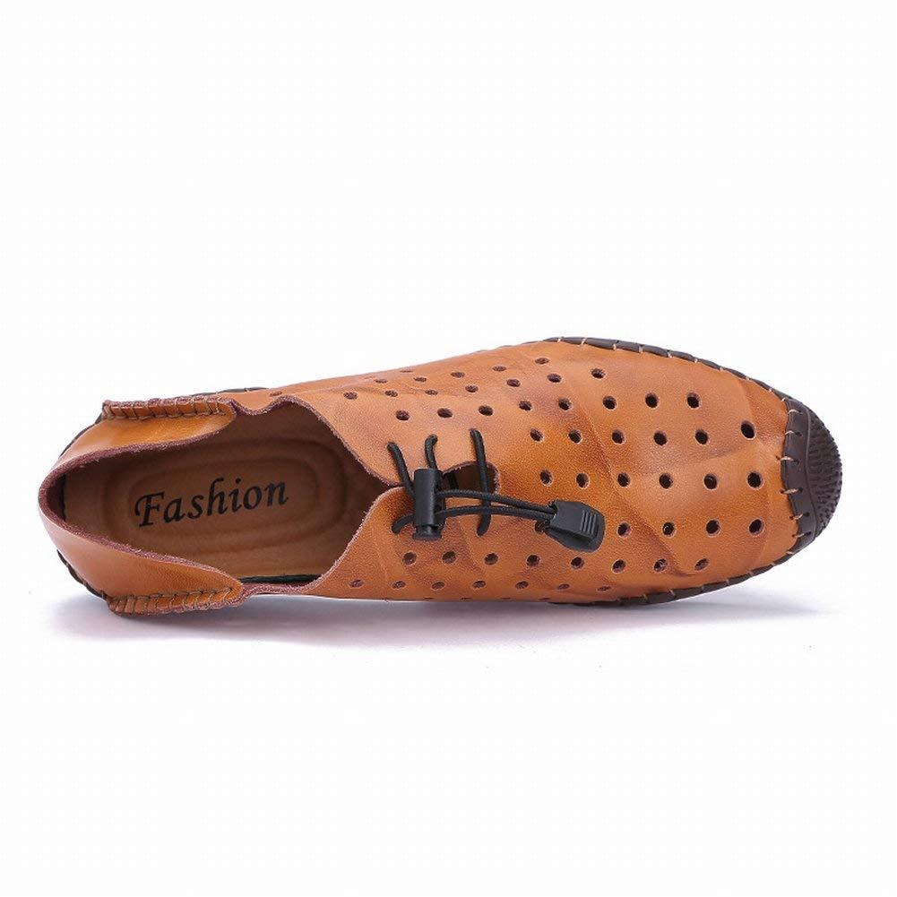 FuweiEncore Hohl Schuhe Sandalen Männer Männer Männer Baotou Hausschuhe Loch Herrenschuhe Lederschuhe Strand Atmungsaktive Sandalen (Farbe   Schwarz, Größe   41) 701144