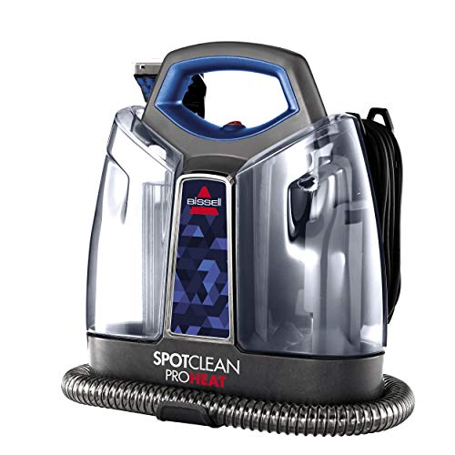 Review BISSELL SpotClean ProHeat Portable Spot and Stain Carpet Cleaner, 2694, Blue