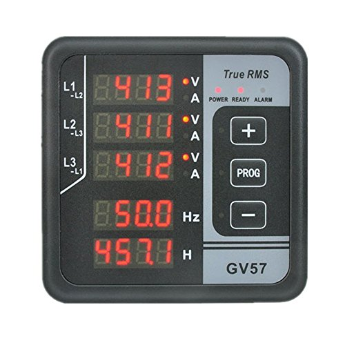 YOKDEN Electric Power Meter 3 Phase Energy Meter Panel Monitor GV57 AC 165-275V Voltage Current Frequency Hour Multifunction Power Meter Voltmeter Ammeter Generator Meter