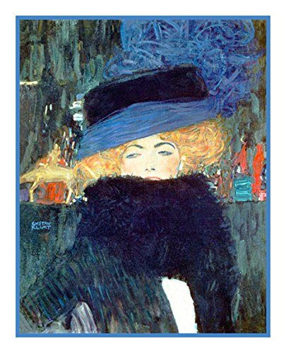 Orenco Originals The Lady Hat and Boa by Gustav Klimt Counted Cross Stitch -
