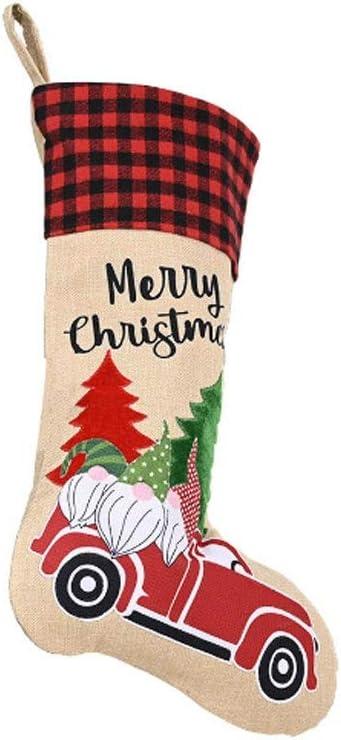 JWDYA Viejo Navidad Bosque decoración del Coche Bolsa de Regalo Regalo de los niños Bolsas de Dulces de Almacenamiento Bolsa de Dulces Bolsas de los titulares