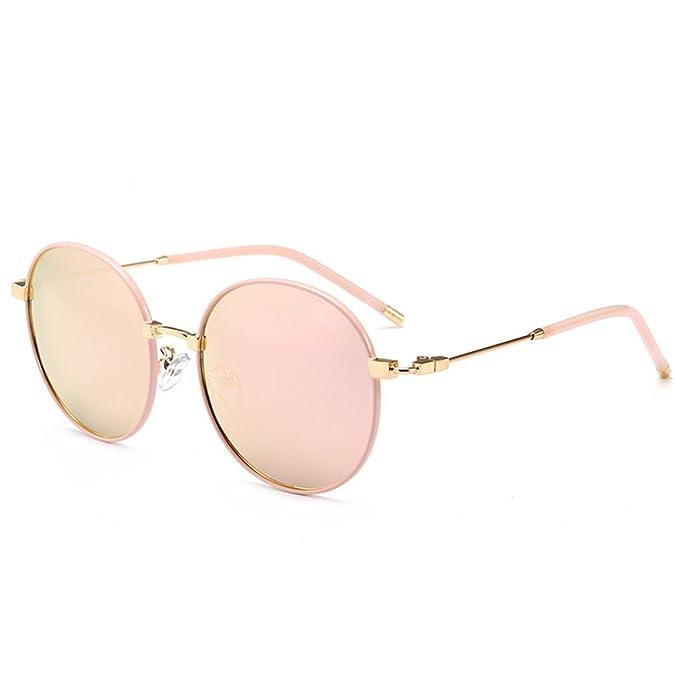 Gafas de sol polarizadas gafas redondas pequeñas 2018 exquisita Mujer Salvaje Metal gafas de sol polarizadas gafas de hombres, el oro en polvo del bastidor: ...