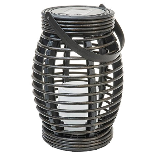 Threshold Solar Wicker Lantern Flickerin - Flickering Lantern Shopping Results