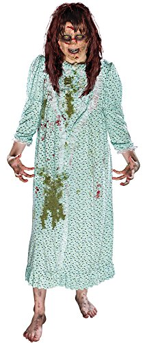 Morbid Enterprises The Exorcist Regan Costume, Green, One Size - Regan Exorcist Mask