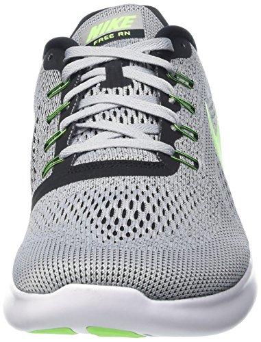 Nike Heren Vrije Rn Afstand Hardloopschoen-zuiver Platina / Elektrisch Groen / Antraciet 10