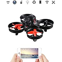 LIDIRC L10 Mini 2.4Ghz 0.3MP Wide Angle Camera Wifi FRV RC Quadcopter Drone with Altitude Hold, One Key Return, 3D Flips Rolls, LED Light