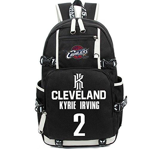 YOURNELO NBA Rucksack School Backpack Bookbag for Boys Girls (Irving - Irving Shopping