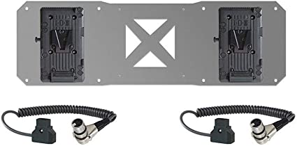 2x V Mount And 2x Cables For Atomos Sumo Battery Plate Camera Photo