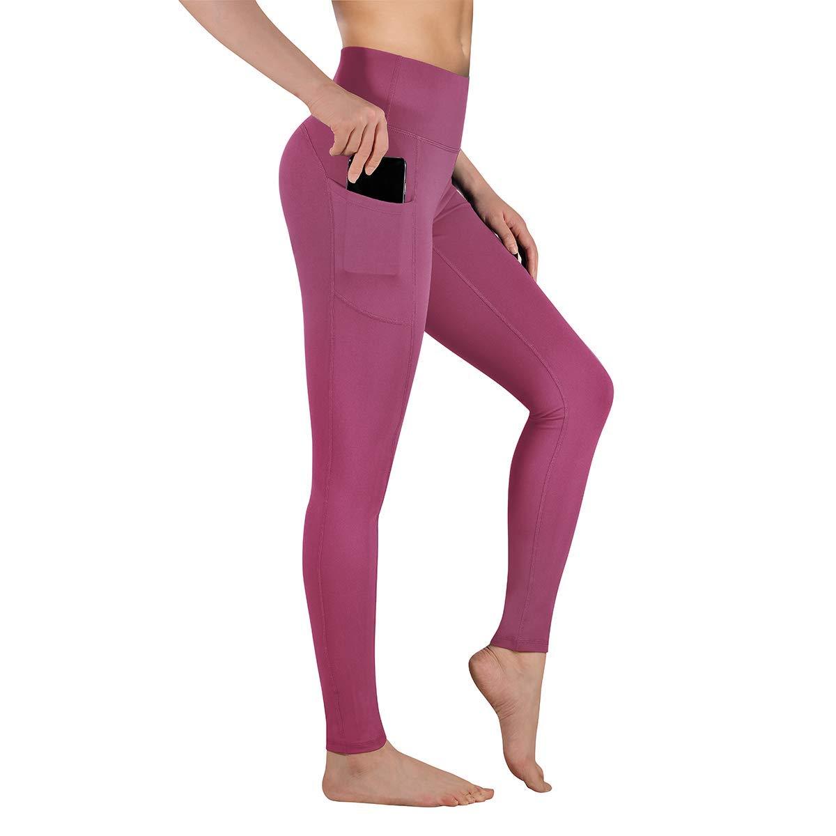Duduma Yoga Pants for Women with Pockets Flex Tummy Control Workout Running 4 Way Stretch High Waist Sports Leggings DU1098