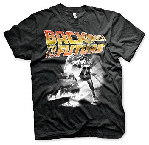 Back to The Future Michael J Fox Delorean 2 Official Tee T-Shirt Mens Unisex (Large) Black