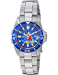 Invicta Womens Disney Limited Edition Quartz Stainless Steel Casual Watch, Color:Silver-Toned (Model: 25571)